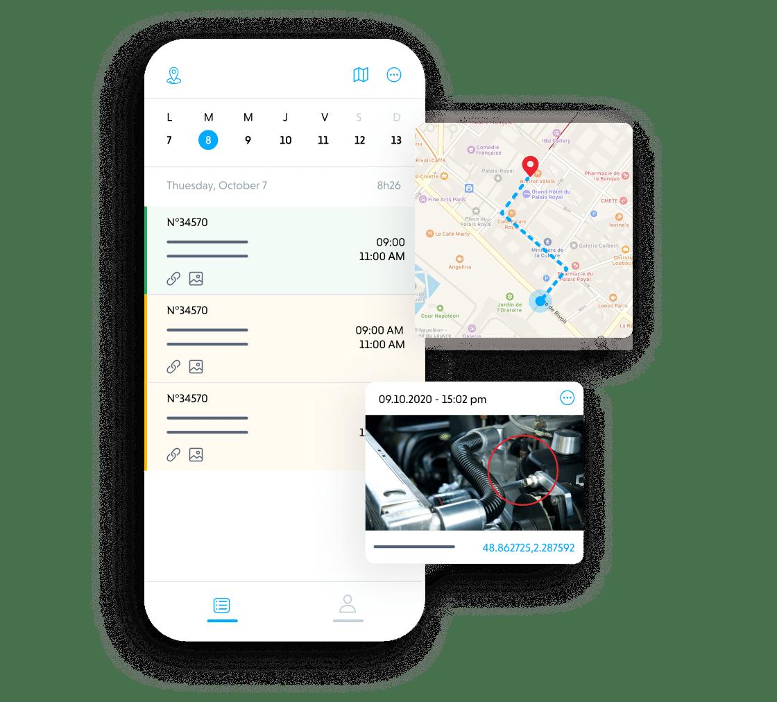 Une application mobile pour le terrain.